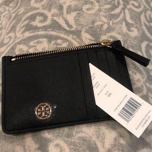 🖤. NWT Tory Burch Robinson Slim Card Case Wallet